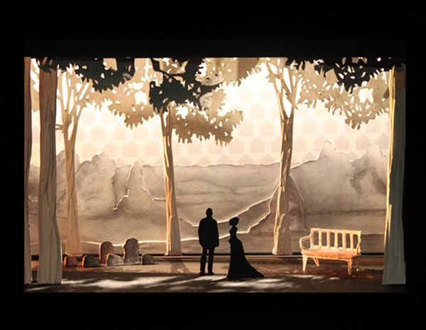 "Set Design for Anton Chekov's ""The Cherry Orchard"" on Behance"
