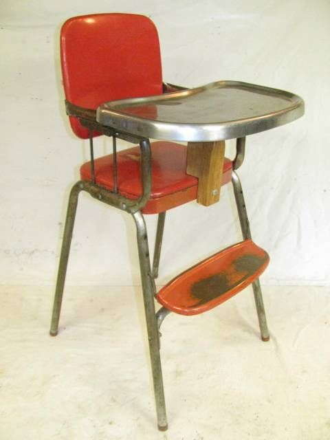 Antique Vintage Metal Cosco High Chair Highchair Baby Seat - 89 Best Very VTG Kitchen TablesChairs~Baby Images On Pinterest