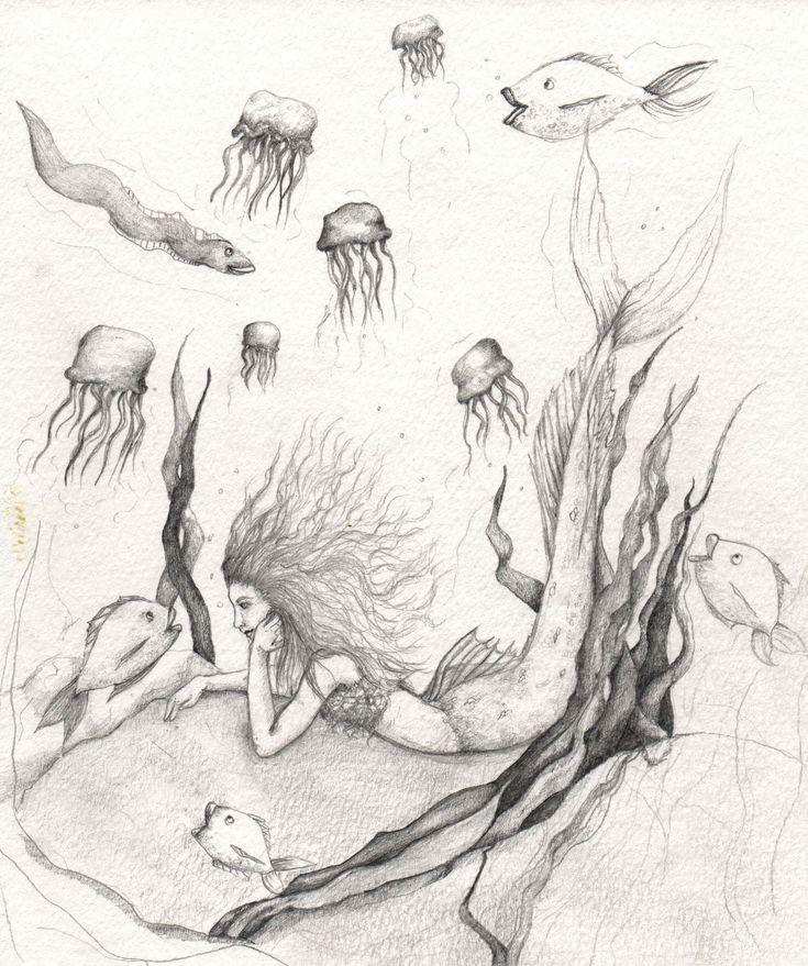 easy mermaids drawings - photo #27