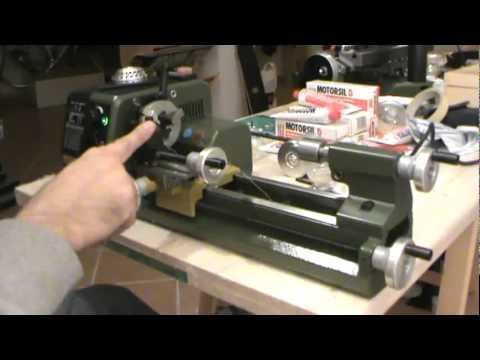 Proxxon PD230E mini torno de precision para metal PD230 E - YouTube