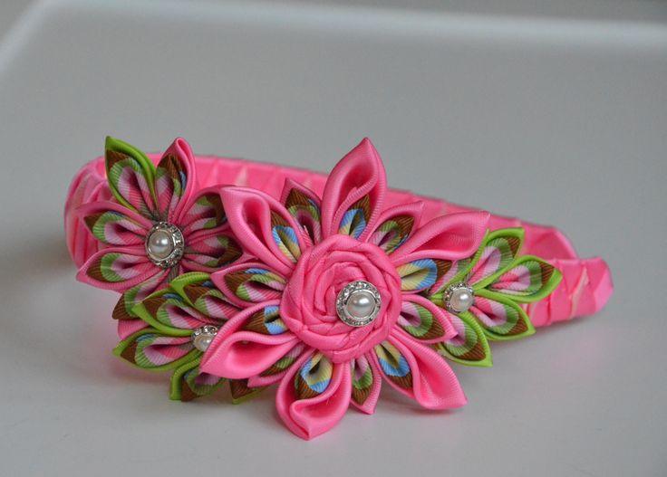 Kanzashi Headband! Beautiful!