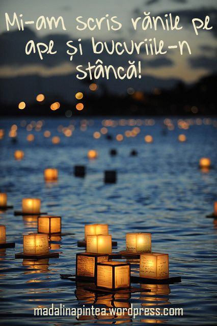 Mi-am scris rănile pe ape și bucuriile-n stâncă