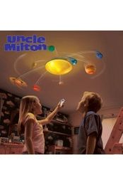 """Uncle Milton Solar System In My Room - Kids Remote Controlled Light with 29"""" Diameter, 8 Motorised Planets, 2 Orbit Speeds, Auto Shut Off - Suitable for Ages 6 Years & Up"""