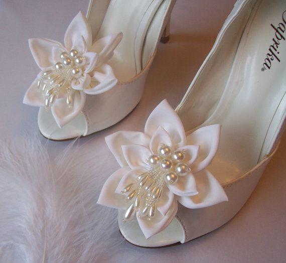 Bridal Pearl Shoe Clips Wedding Accessories Fashion