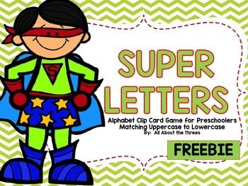 This freebie contains a superhero theme alphabet matching clip card game for uppercase to lowercase letters.  These cards can be used in literacy centers, morning work, homework, guided groups, etc!  Parents can also use them as extra reinforcement at home!