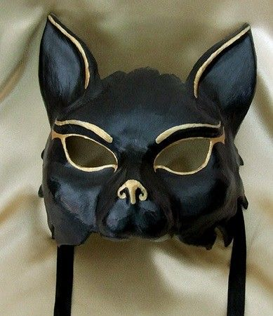 Masquerade Ball Masks: unique masquerade masks by maskmaker Helen Rich | Masks Gallery | Egyptian | Bast Mask