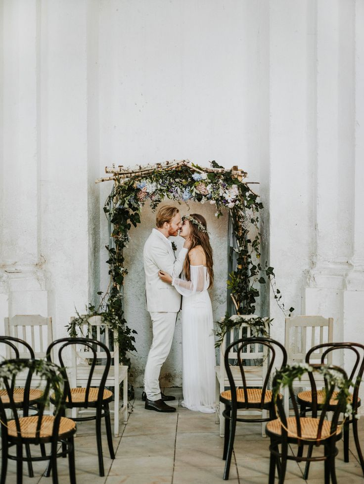 wedding ceremony - http://ruffledblog.com/hungarian-chapel-elopement-editorial