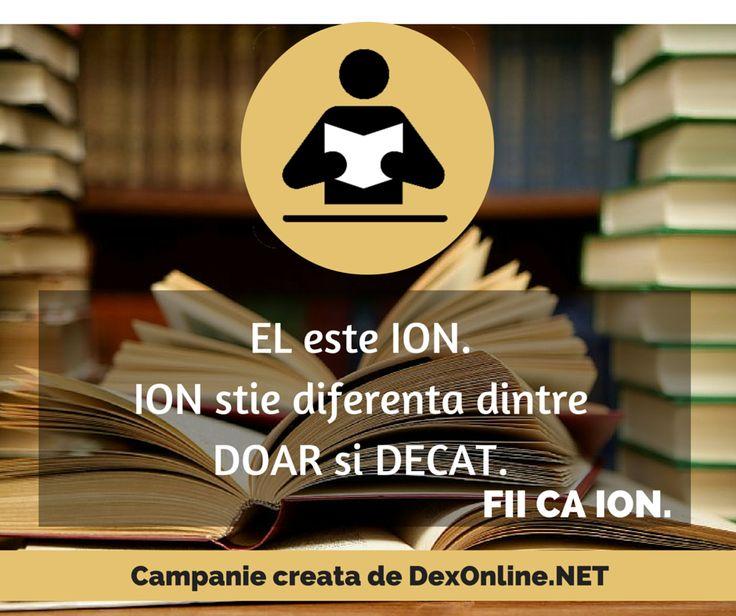 Salvam limba romana impreuna! #salveazalimbaromana #corect #fiicaion #dictionar O campanie http://dexonline.net