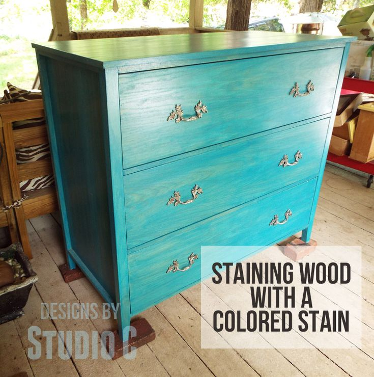 Terrific turquoise? Staining a Project? Try a Colored Stain...