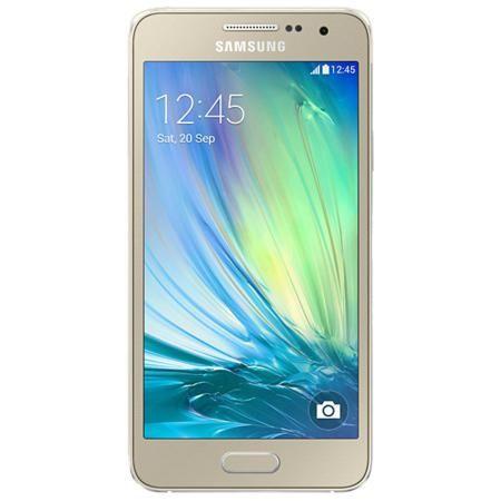 Samsung Galaxy A3 SM-A300F 4G 16Gb Gold  — 11485 руб. —  Samsung Galaxy A3 - это первый смартфон Samsung в цветном металлическом корпусе, отличающийся роскошным инновационным дизайном и великолепным 4,5-дюймовым qHD sAMOLED экраном. Ваши вытянутые вперед руки еще не означают, что снимок безнадежно испорчен. При съемке селфи смартфоном Samsung GALAXY A3 вам можно и не касаться кнопки. Делайте селфи с помощью голосовой команды или жеста рукой и пусть ваши друзья думают, что вас снимал ваш…