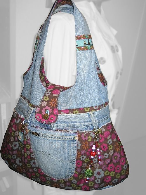 Recycle jeans, bag sewing pattern farbenmix