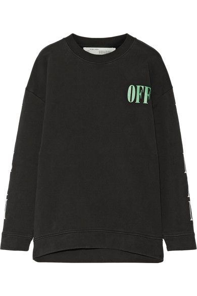 Off-White - Psycho Printed Cotton-jersey Sweatshirt - Black -