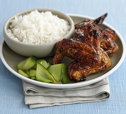 Sticky Chinese wings & cucumber recipe - Recipes - BBC Good Food