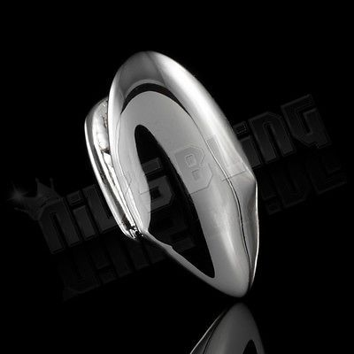 14K White Gold Plated Single FANG Teeth Tooth Cap Canine Hip Hop Custom GRILLZ