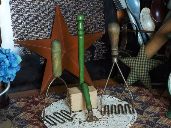 Vintage Primitive Green Handle Potato by 1776LibertyLanePrims