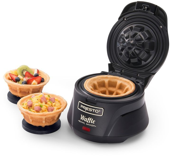 This would be a fun gift idea for those on your list that already have everything.  Presto Waffle Bowl Maker.  #affiliate