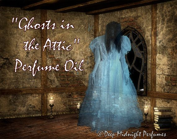Ghosts in the Attic PERFUME Oil by DeepMidnightPerfumes, $16.00  Red apples, autumn wind, Halloween candies, antique wood, HALLOWEEN perfume