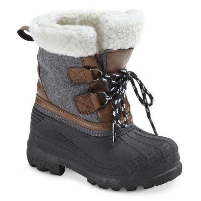 Toddler Boy's Cherokee® Sheldon Winter Boots - Grey, Size 9
