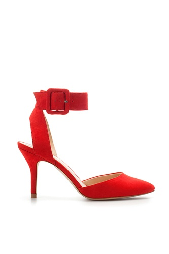 THESE.: With Zara, You'Re Heels, Heels 50, Bright Heels, Lacy Everything, Leather Jackets, Red Heels Hot, Bright Red, Zara Basic