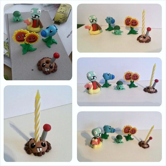 Plants vs Zombies Birthday Cake Topper Birthday Keepsake by RSQD