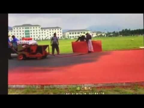 construction of running track