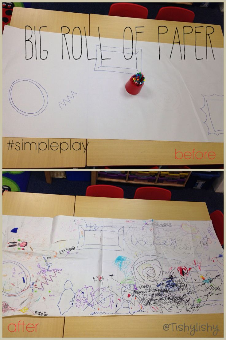 Big roll of paper as part of Monday's #simpleplay