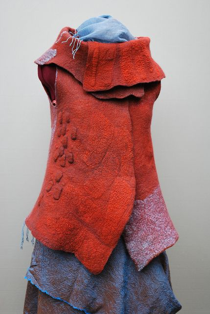 Felted vest by sassafrasdesign via Flickr