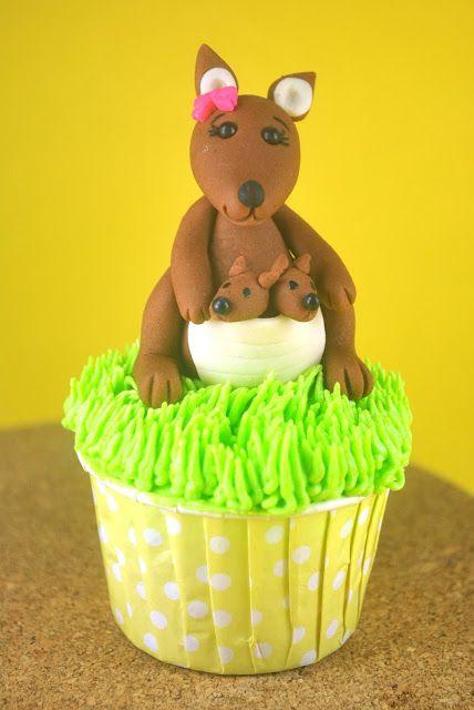 How to make a Fondant Kangaroo Cupcake Topper - Step-by-Step Tutorial