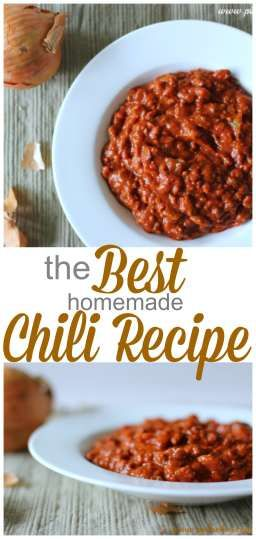 Seriously the BEST Chili recipe I have ever tasted. YUM!