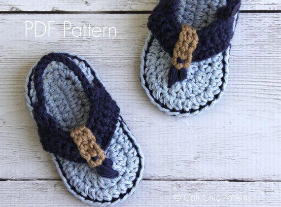 Baby shoes PATTERN 312  Malibu Baby flip flops by CaliChicPatterns