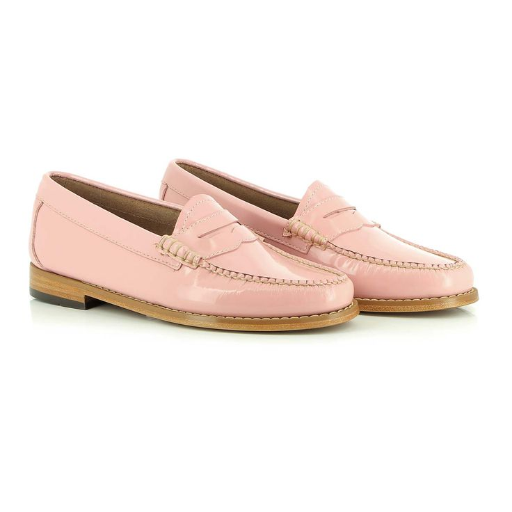These on-trend and in popular demand baby pink penny loafer's are this  seasons a girl's best friend.