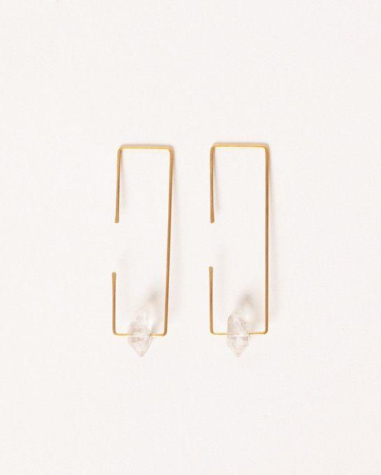 Herkimer Rectangle Earrings – Victory