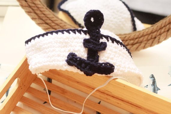 All A'bord Toddler Sailor Hat Cotton by MiyukiCrochet on Etsy, $30.00