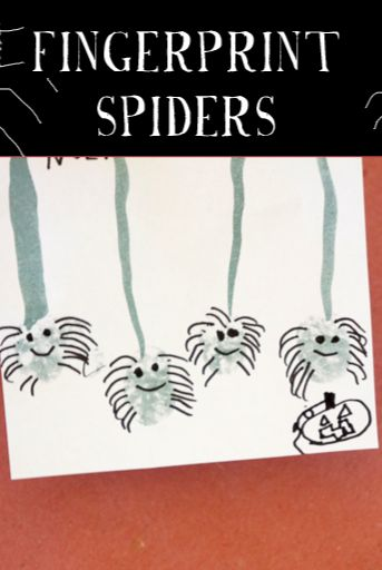 Fingerprint Spiders via Tinkerlab #educational #resources for #preschool