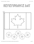 Remembrance Day flag coloring -BigActivities.com