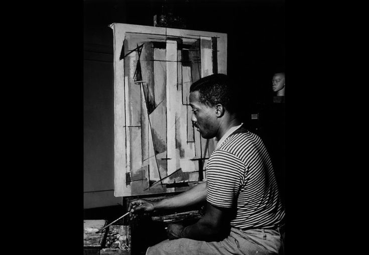 """Norman Lewis. """"Procession: The Art of Norman Lewis"""" Retrospective at the Pennsylvania Academy of Fine Arts, Nov 13, 2015 - April 03, 2016."""