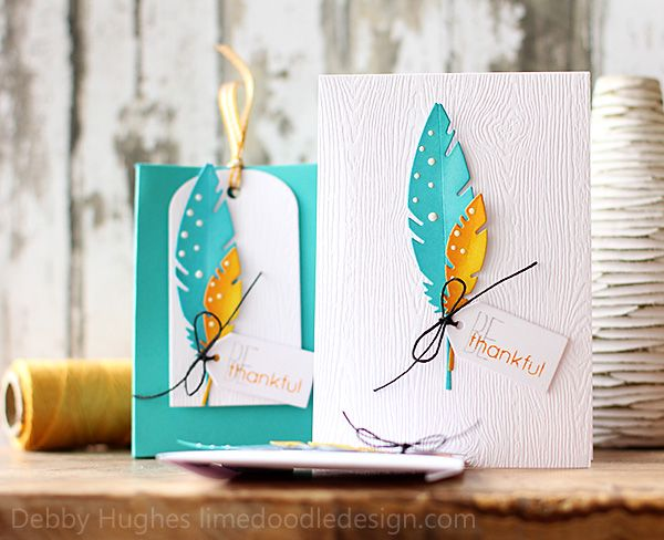 Be Thankful card and gift bag