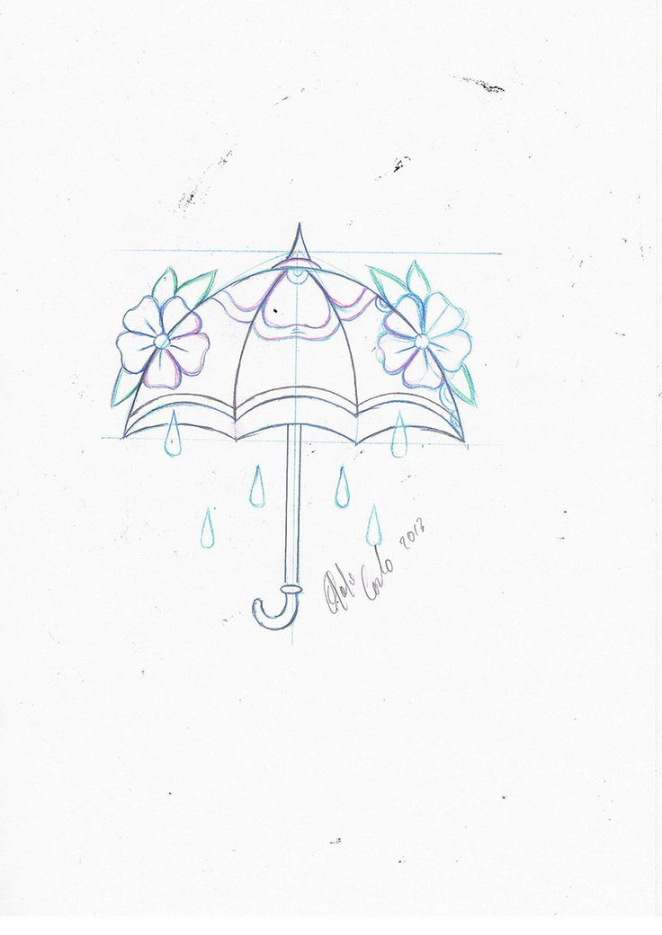 new school tattoo #old school tattoo #umbrella tattoo flash #tattoo idea