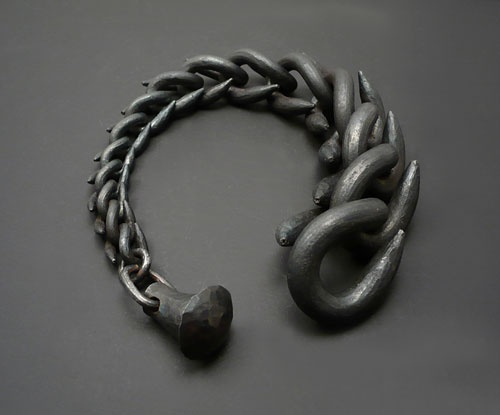 "Sophie Hanagarth  Bracelet: Untitled 2012  Iron   (""Questions in Borderline Areas"")"