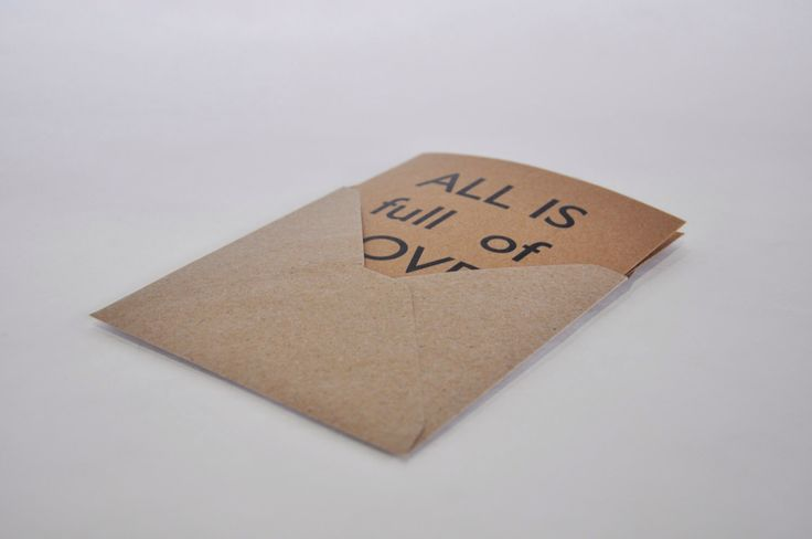All is full of Love. Square Card + Envelope. Recycled paper. di IntoTheTreees su Etsy https://www.etsy.com/it/listing/220648581/all-is-full-of-love-square-card-envelope
