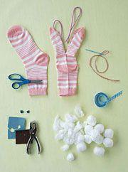 Easter Crafts: Sock Bunnies