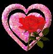 Glitter Rose Heart