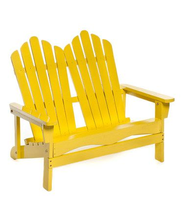 I've always wanted an Adriondack chair, this is great ~ Love this Yellow Double Adirondack Chair on #zulily! #zulilyfinds