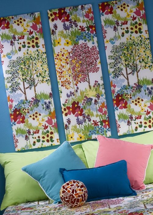 10 best images about fabric wall art ideas on pinterest for Fabric wall art