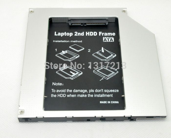 New SATA to PATA/IDE 2ND HDD caddy Optical Bay Adapter FOR  Apple Macbook Pro A1212 9.5MM
