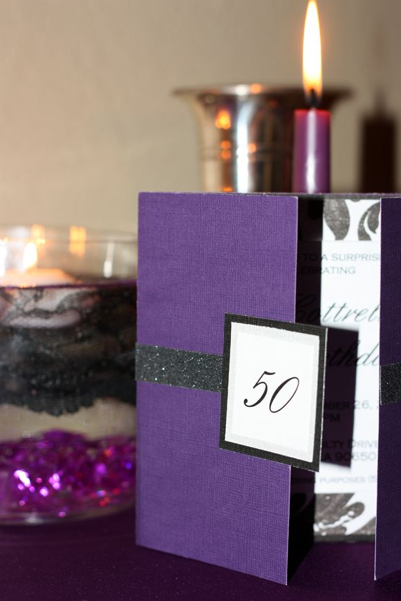 Blingy Purple 50th Birthday Party