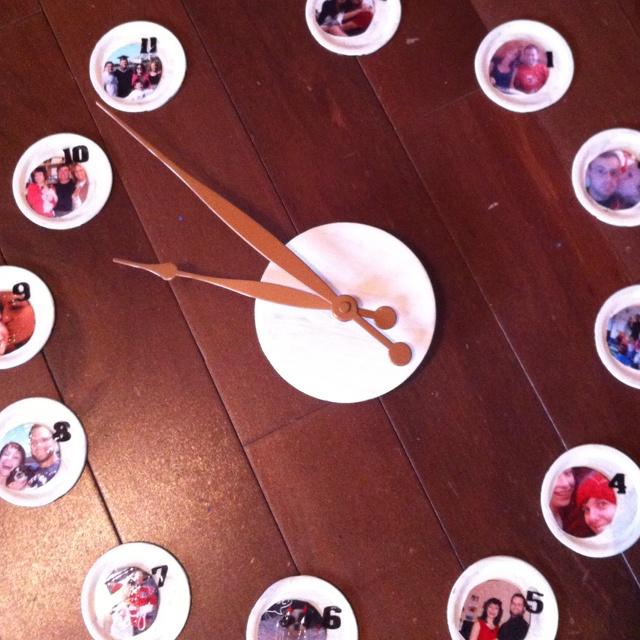 Homemade picture wall clock school gala ideas pinterest - Homemade wall clock designs ...
