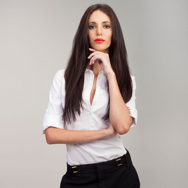 Dark Brown FrontRow Clip-In Hair Extensions on model Monique :) Avaliable for purchase at www.frontrow.co.za