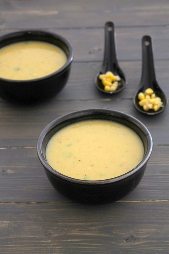 Sweet corn soup recipe | How to make easy sweet corn soup