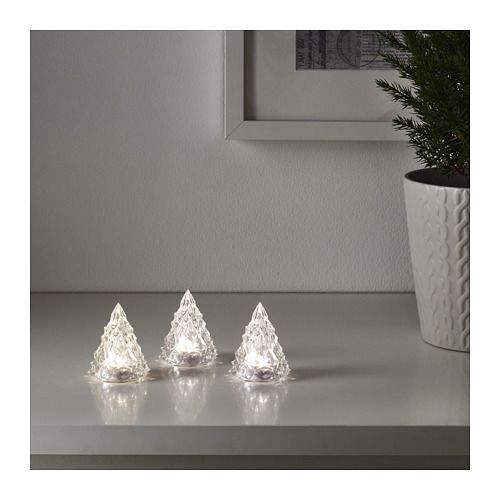 IKEA - VINTER 2017, LED decorative light, Gives a soft glowing light that gives your home a warm and welcoming atmosphere.Perfect for creating the ambiance of the holidays in your home.Easy to place anywhere as it is battery operated and does not need to be connected to the main power supply.